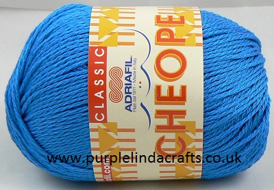 Adriafil CHEOPE Cotton 062 Cornflower Blue REDUCED