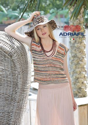 Adriafil Kimera CRESSIDA Top Knitting Pattern