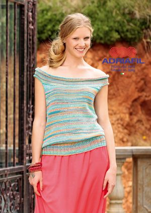 Adriafil Kimera POPPY Top Knitting Pattern