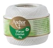 Anchor Artiste Mercer Crochet Cotton No.80 WHITE 7901 20g