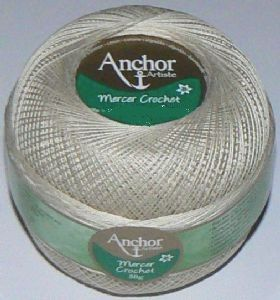 Anchor Artiste Mercer Crochet Thread No.60 387 Beige 20g