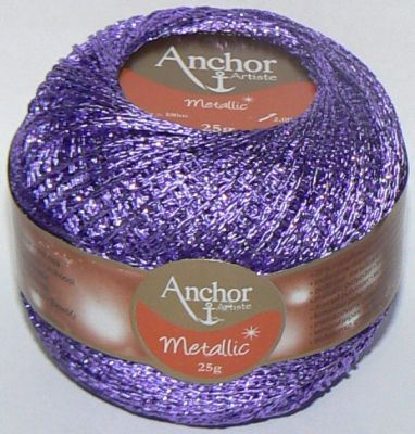 Anchor Artiste Metallic Crochet No.5 Thread 310 PURPLE