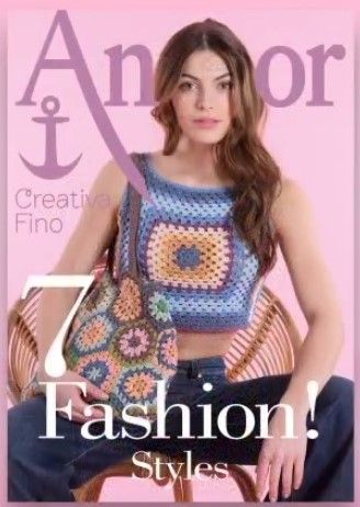 Anchor Creativa 7 Fashion Styles Crochet Book