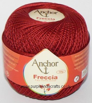 Anchor Freccia No.6 Crochet Cotton 8047 Red
