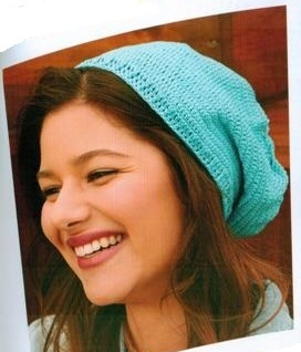 Anchor Freccia Style it Crochet Kit Turquoise Hat