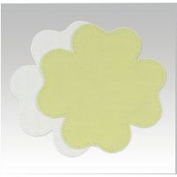 Anchor Home - Patchwork Crochet Fabric Shapes Doilies TREFOIL Lt Green 1043