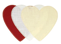 Anchor Home - Patchwork Crochet Fabric Shapes HEART White 001