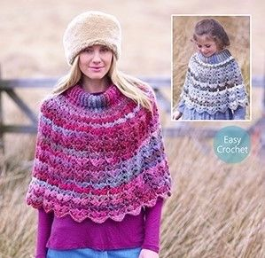 Cape, Shawl & Poncho Crochet Patterns