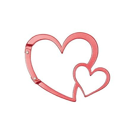 CARABINER Key Rin Heart Red