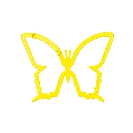 CARABINER Key Ring Butterfly Yellow