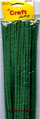 Chenille Wires 12mm x 30cm Green