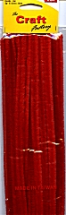 Chenille Wires 12mm x 30cm Red