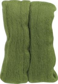 Clover Natural Wool Roving Needle Felting 7922 Moss Green