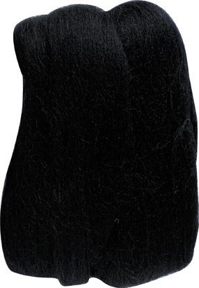 Clover Natural Wool Roving Needle Felting 7932 Black