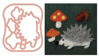 Clover Needle Felting Applique Mould HEDGEHOG and MUSHROOMS Mold