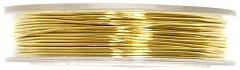 Crochet Beading Wire Brass 0.5mm x 5mm GOLD