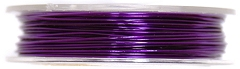 Crochet Beading Wire Brass 0.5mm x 5mm PURPLE