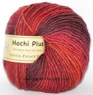 Crystal Palace Mochi Plus Wool 606 Red Zone DISCONTINUED