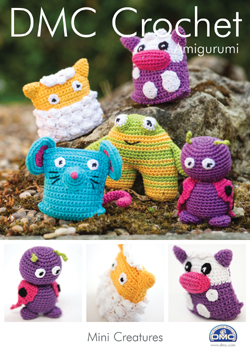 DMC Amigurumi MINI CREATURES Crochet Pattern 15050L/2 £1