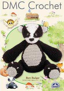 DMC Bert Badger Woodland Folk Crochet Pattern 15000L/0