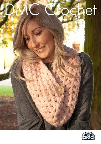 DMC Cocoon Textured Snood Crochet Pattern FREE