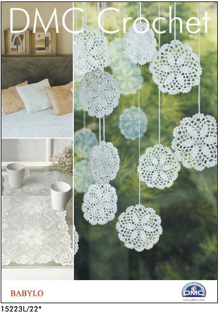DMC Crochet Babylo Pattern Booklet 1 Snowflake Doily Cushions Table Runner