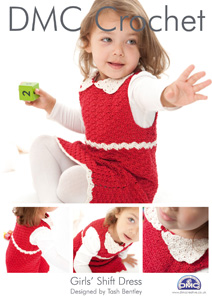 DMC Girls Shift Dress Crochet Pattern 14929 £1