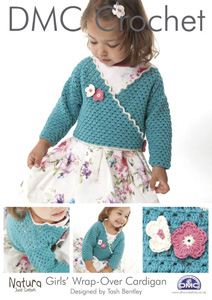DMC Girls Wrap Over Cardigan Crochet Pattern 14931L/2