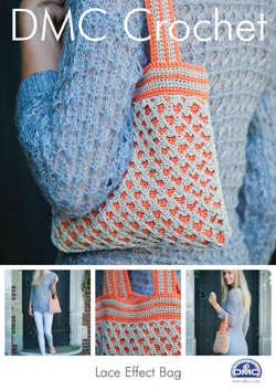 DMC Lace Effect Bag Crochet Pattern 15041L/2