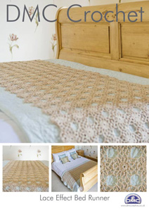 DMC Lace Effect Bed Runner Crochet Pattern 14940L/2