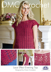 DMC Lace Effect Evening Top Crochet Pattern 14926L/2 REDUCED