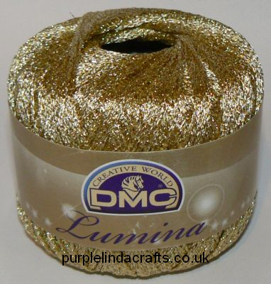 DMC Lumina Metallic Crochet Thread L3821 Gold