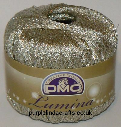 DMC Lumina Metallic Crochet Thread L3866 White Gold