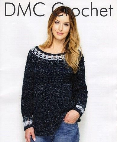 DMC Baby Boy/'s Motif Jumper Crochet Pattern