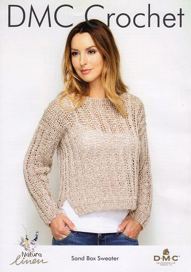 DMC Natura Linen Sand Box Jumper Crochet Pattern