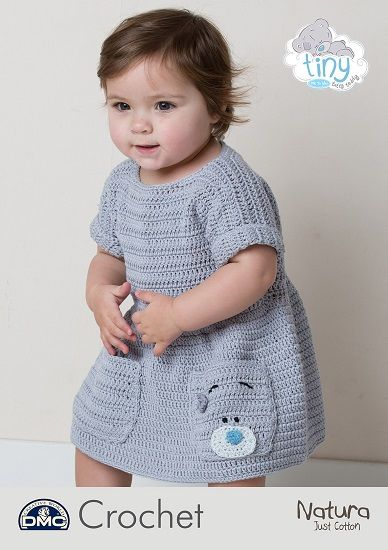 DMC Natura Tiny Tatty Teddy Baby Dress Crochet Pattern 15431
