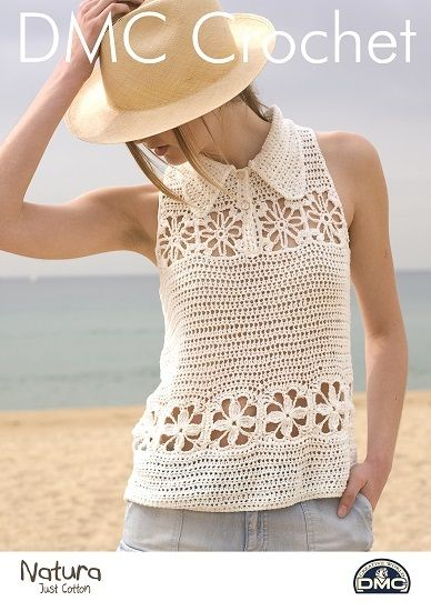 Dmc Natura Top With Colar Crochet Pattern 15369
