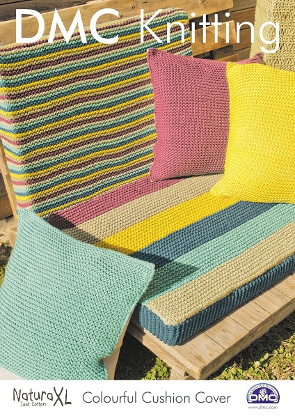Dmc Natura Xl Colourful Cushion Covers Knitting Pattern 15244