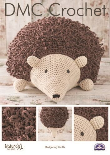 DMC Natura XL Hedgehog Pouffe Crochet Pattern 15331