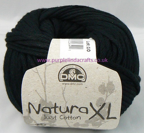 DMC Natura XL Just Cotton Super Chunky Yarn 02 Black