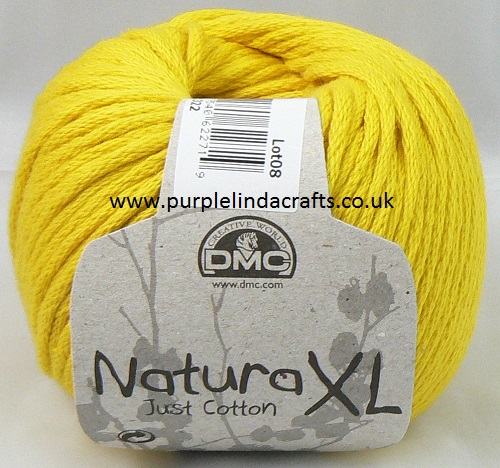 DMC Natura XL Just Cotton Super Chunky Yarn 09 Yellow