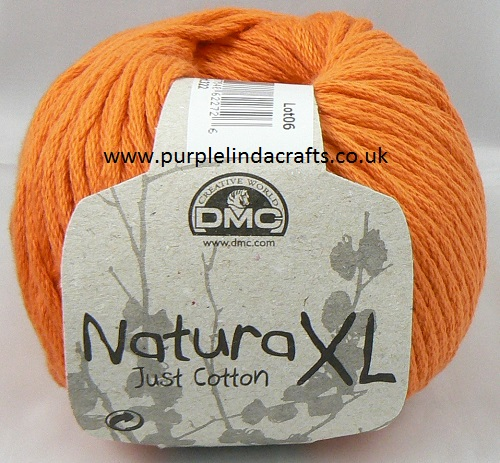 DMC Natura XL Just Cotton Super Chunky Yarn 10 Orange