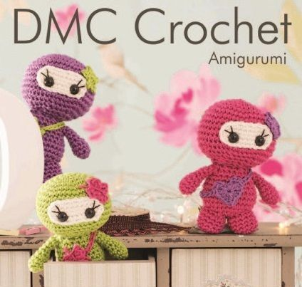 DMC Petra Amigurumi LITTLE LADY NINJAS Crochet KIT