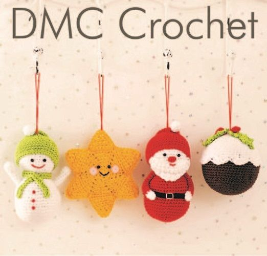 DMC Petra Festive Tree Decorations Crochet KIT