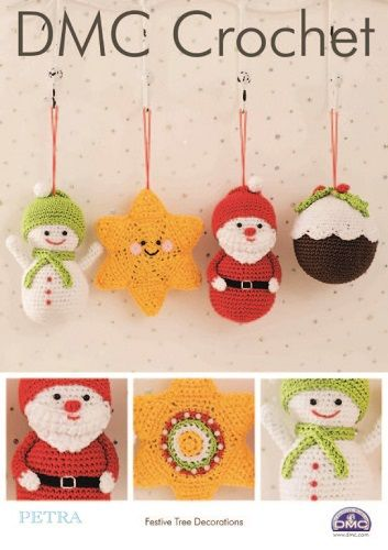 DMC Petra Festive Tree Decorations Crochet Pattern 15328L/2