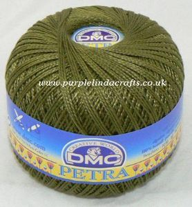 DMC PETRA No.3 Crochet Cotton 53011 OLIVE Green