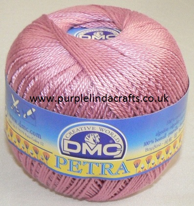 DMC PETRA No.3 Crochet Cotton 53608 Pink