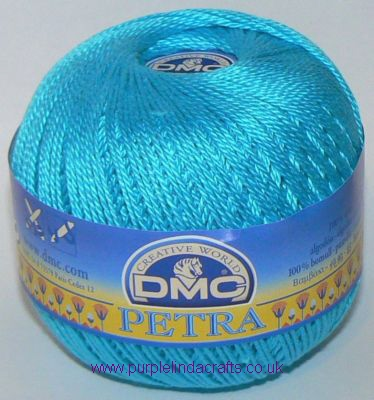 DMC PETRA No.3 Crochet Cotton 53845 Kingfisher Blue