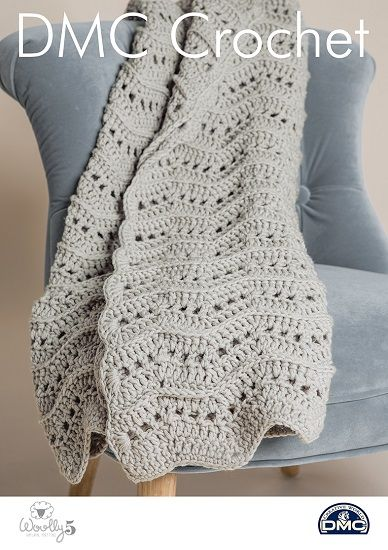DMC Woolly 5 Wavy Throw Crochet Pattern 15420