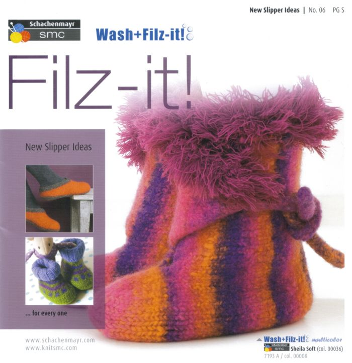 Filz it! No.6 New Slipper Ideas Knit & Felt Book